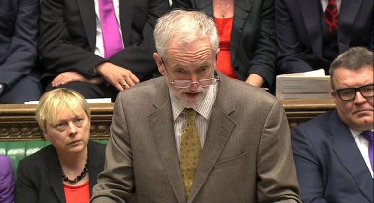 Jeremy Corbyn nesta quarta-feira na Câmara dos Comuns.