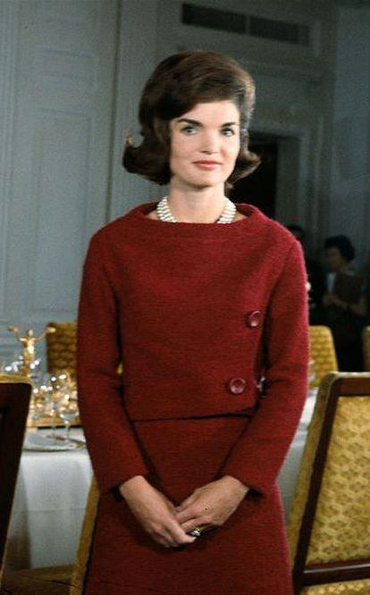 Jacqueline Kennedy durante reportagem de televisão na Casa Branca em 1962.