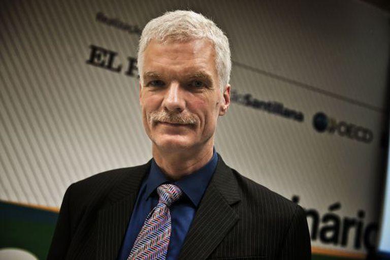 Andreas Schleicher, da OCDE, hoje em Brasília.