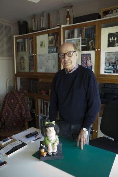 O desenhista Quino, em Buenos Aires em 2012.