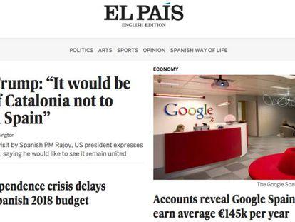 EL PAÍS lança edição online em inglês