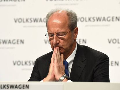 Hans Dieter Pötsch, presidente do Conselho de Administração da Volkswagen, em imagem de arquivo.