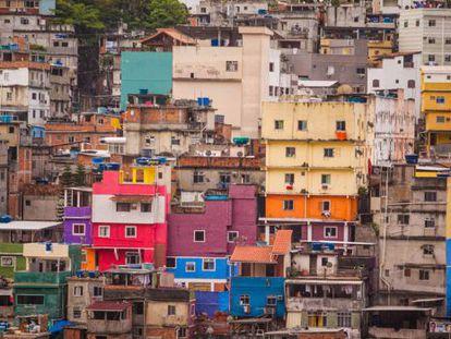 Favelas no Rio de Janeiro.