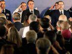 Bolsonaro e Dias Toffoli na posse novo ministro da Defesa.