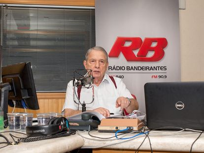 José Paulo de Andrade, 78, na Rádio Bandeirantes.