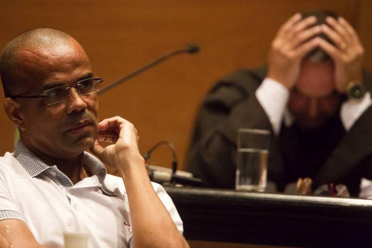 Fernandinho Beira Mar no Forum do Rio de Janeiro, em 2015.