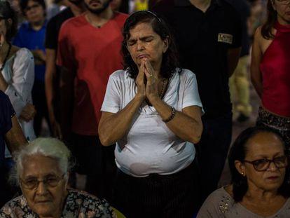 Ato em homenagem aos mortos na chacina do Benfica, em Fortaleza.