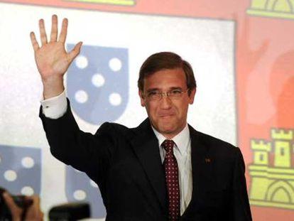 Pedro Passos Coelho, ontem depois de conhecer sua vitória.