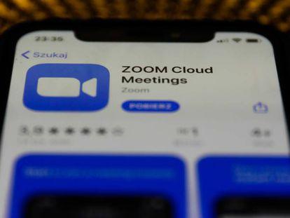 O aplicativo Zoom.