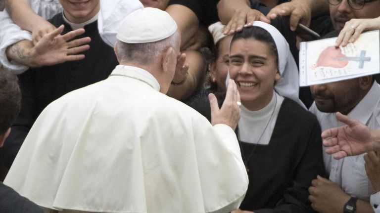 O papa Francisco durante a audiência geral desta quarta-feira.