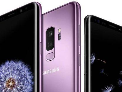 Tela frontal e traseira do Galaxy S9+ e do Galaxy S9