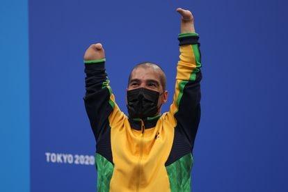 Daniel Dias, medalha de bronze nos 200m livre da classe S5.