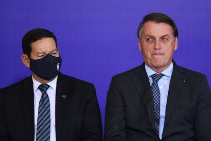 Mourão e Bolsonaro em novembro do ano passado, no Palácio do Planalto.