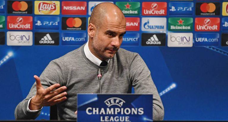 Guardiola, em coletiva de imprensa.