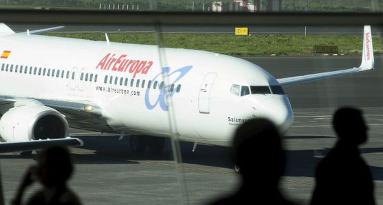 Imagem de um avião da Air Europa.