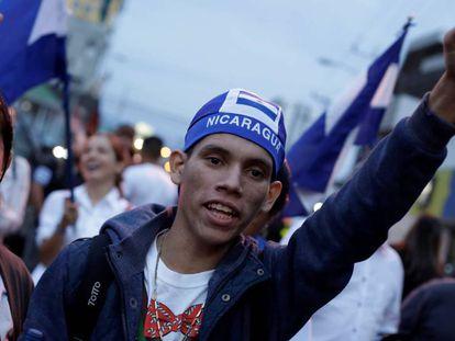 Nicaraguenses protestam na Costa Rica