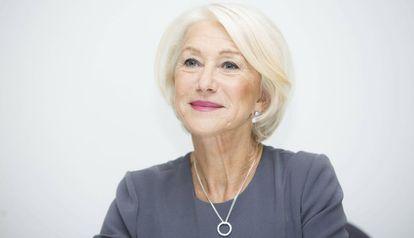 Helen Mirren numa entrevista no final de 2015.