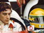 El piloto brasileño Ayrton Senna, antes de una carrera