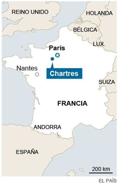 Casa em La Madeleine (Chartres) onde um dos terroristas viveu por três anos.