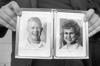 O primeiro assassino em série, Charles Whitman, e sua primeira vítima, a esposa.