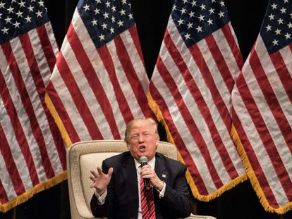 O candidato republicano Donald Trump, nesta segunda-feira.