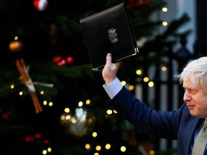 Boris Johnson, durante sua declaração nesta sexta-feira em Downing Street.