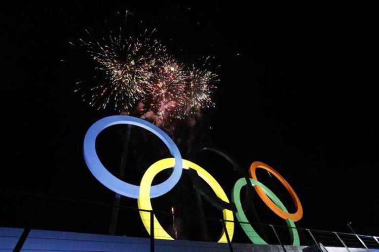 Inauguração dos aros olímpicos no Parque Madureira, em 20 de maio.