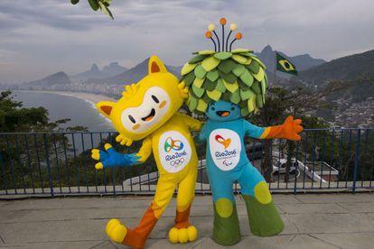 As mascotes dos Jogos Olímpicos e Paralímpicos de 2016.