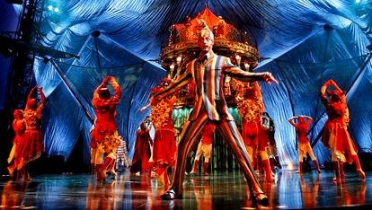 Imagem do espetáculo 'Kooza', um dos mais longevos do Cirque du Soleil, estreado em 2010.