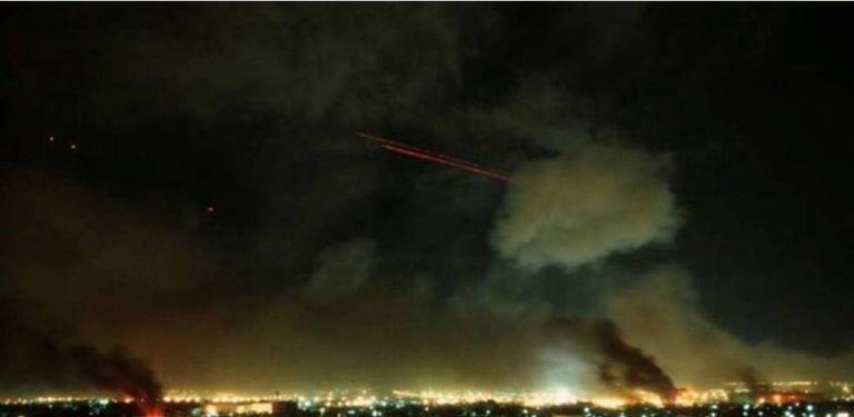 Imagens do bombardeio à base Al Ain, no Iraque.