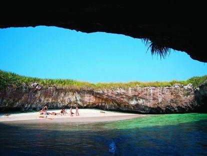 A Praia do Amor no Pacífico mexicano.