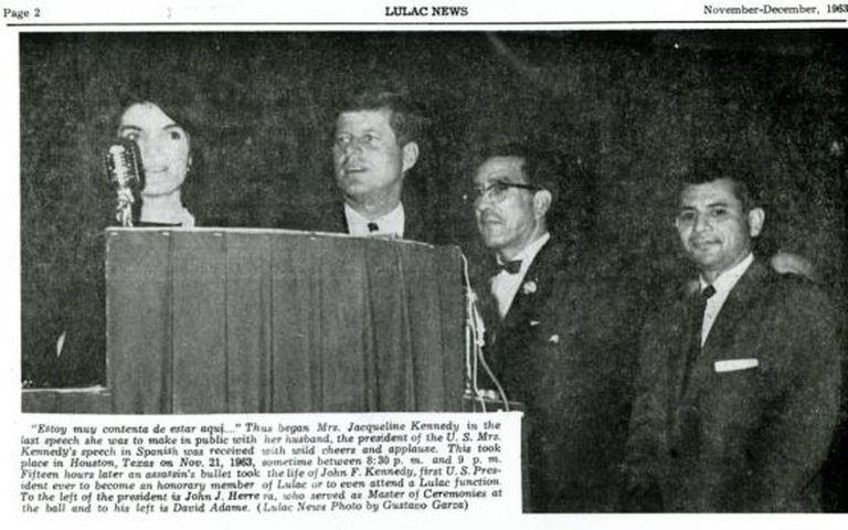 Imagem da visita dos Kennedy em 21 de novembro de 1963.