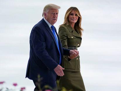 Trump e a primeira-dama Melania