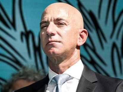 O executivo-chefe da Amazon, Jeff Bezos, durante um evento em Istambul, em 2019.