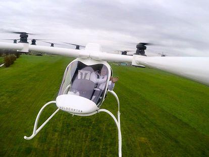 O Volocopter é o primeiro carro voador que transporta a um passageiro.