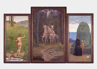 'A Vida. Esperança, Amor, Saudade (1899-1901)', de António Carneiro.