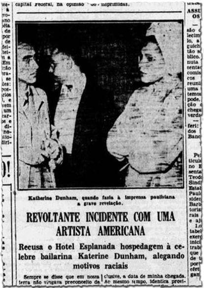 Correio Paulistano noticia em 1950 episódio que levou país a ter primeira lei contra o racismo.
