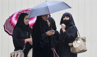Mulheres sauditas em Riad.