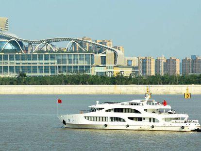 Vista do centro de convenções onde será realizada a cúpula do G20, na cidade chinesa de Hangzhou.