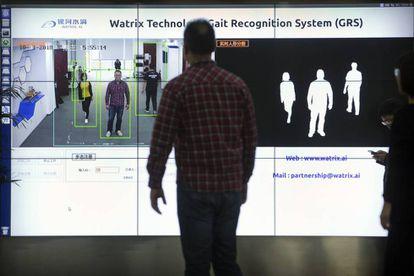 Demonstração do funcionamento da tecnologia de reconhecimento corporal.