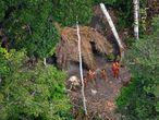 Pueblo indígena en la Amazonia brasileña.