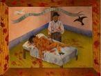 'Unos cuantos piquetitos' (1935), de Frida Kahlo, que tiene su origen en una nota sobre un feminicidio real sucedido en Ciudad de México.