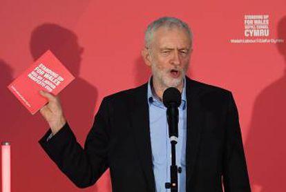 Corbyn, no sábado, em Swansea (País de Gales).