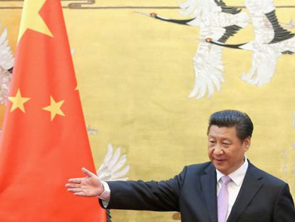 O presidente Xi Jinping, nesta terça em Pequim.