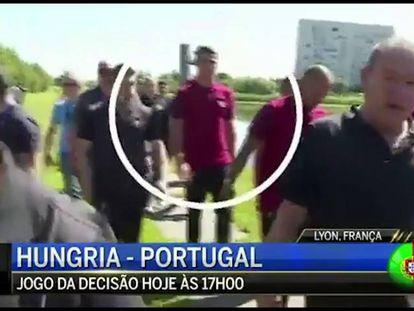 Cristiano Ronaldo joga microfone de jornalista em lago