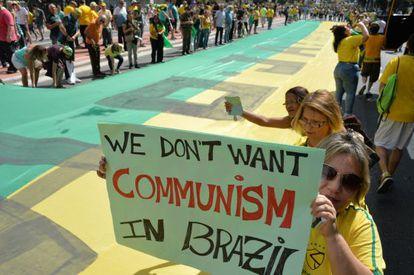 Manifestantes na avenida Paulista, no último dia 16.