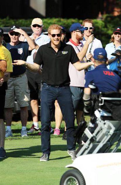 O príncipe Harry da Inglaterra nos Jogos Invictus, realizados em Toronto, Canadá, no fim de setembro.
