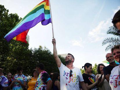 Marcha em Orlando, domingo, em homenagem às vítimas Spencer Platt.