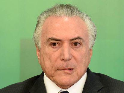 Michel Temer nesta quinta em Brasília.