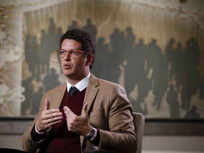 Ricardo Salles, nesta terça-feira na redação do EL PAÍS em Madri.